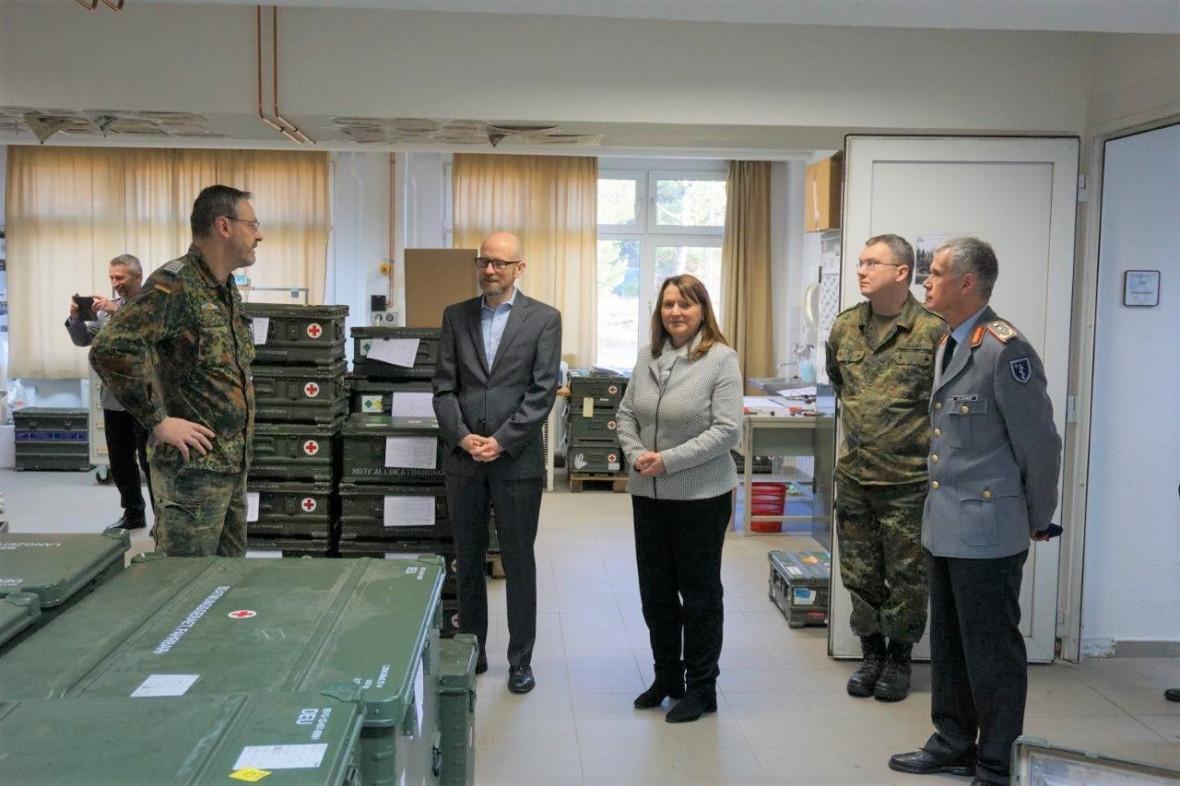 Heike Brehmer Mdb Truppenbesuch Von Staatssekretar Dr Peter Tauber In Blankenburg
